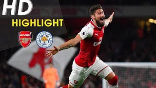 Arsenal vs Leicester City (4-3) - Full Highlights 2017-18