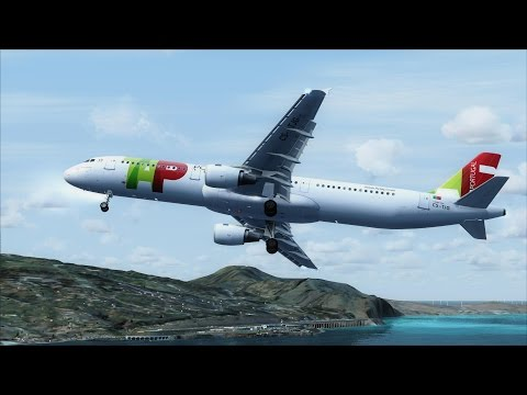 FSX A321 Madeira Funchal Circling Approach [AMAZING REALISM+EXTREME GRAPHICS]