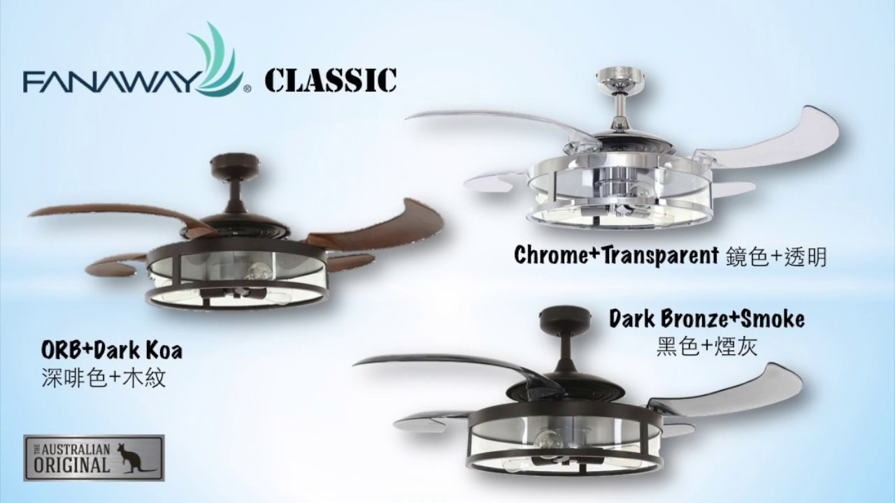 Fanaway Patented Retractable Ceiling Fan Introduction