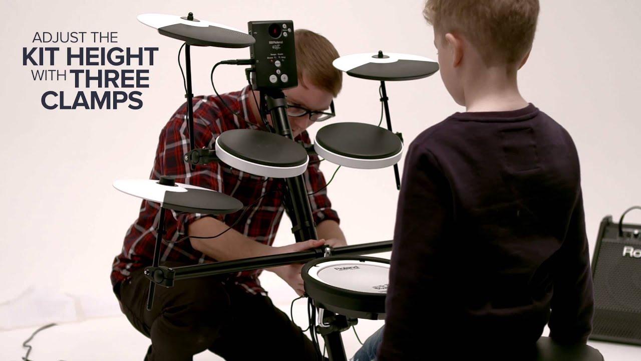 Adjusting The Height The Td 1k And Td 1kv V Drums Youtube
