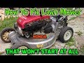 How to Fix a Honda Lawn Mower That Won't Start