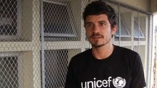 UNICEF Goodwill Ambassador Orlando Bloom visits South African children