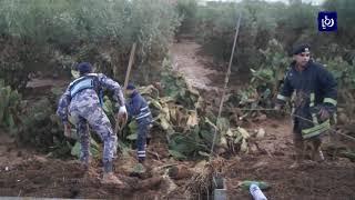 خسائر بشرية وأضرار كبيرة في البنية التحتية جنوب محافظة مادبا  - (10-11-2018)