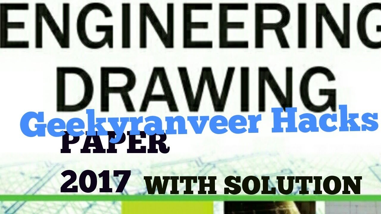 iti engineering drawing question paper with solution 2017 youtube