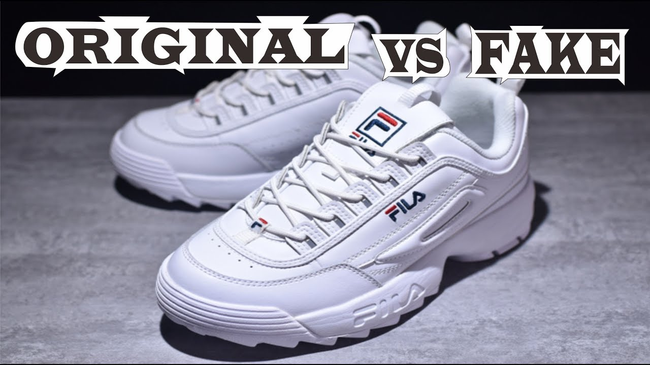 Fila Disruptor II White Premium Original & Fake