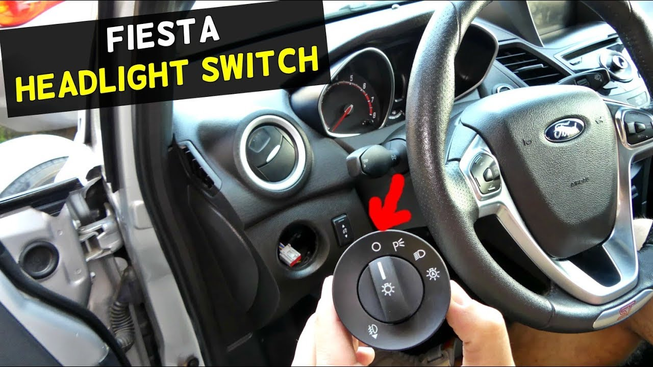 Used Ford Focus >> FORD FIESTA HEADLIGHT SWITCH REPLACEMENT REMOVAL MK7 ST - YouTube
