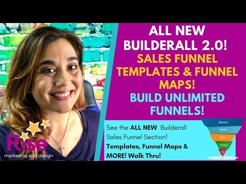 *NEW* Builderall 2.0 2018! UNLIMITED FUNNELS! | SALES FUNNEL Template Section & Funnel Map DEMO