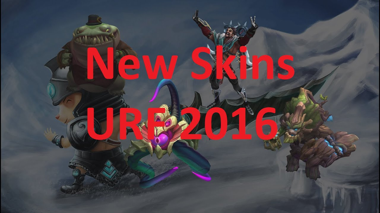 ALL URF 2016 SKINS: League of Legends PBE - YouTube