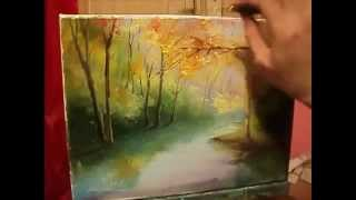 А.Южаков Осень Картина за 35мин... ВИДЕОУРОК