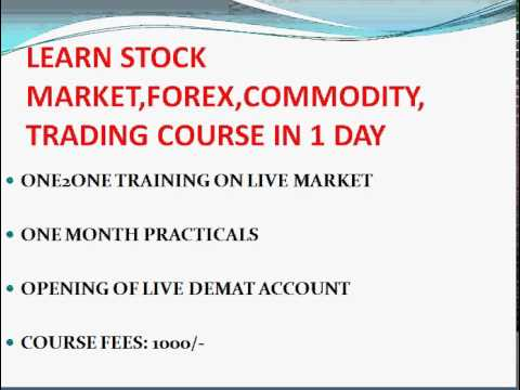 1 day stock market trading course for beginners in Bangalore