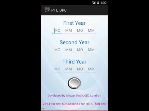 PTU Diploma Persentage Calculate