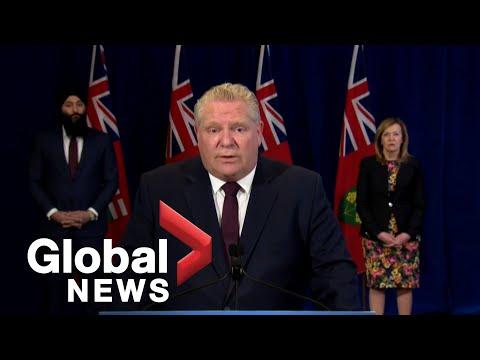 Coronavirus outbreak: Ontario launches online portal to address COVID-19 concerns | FULL