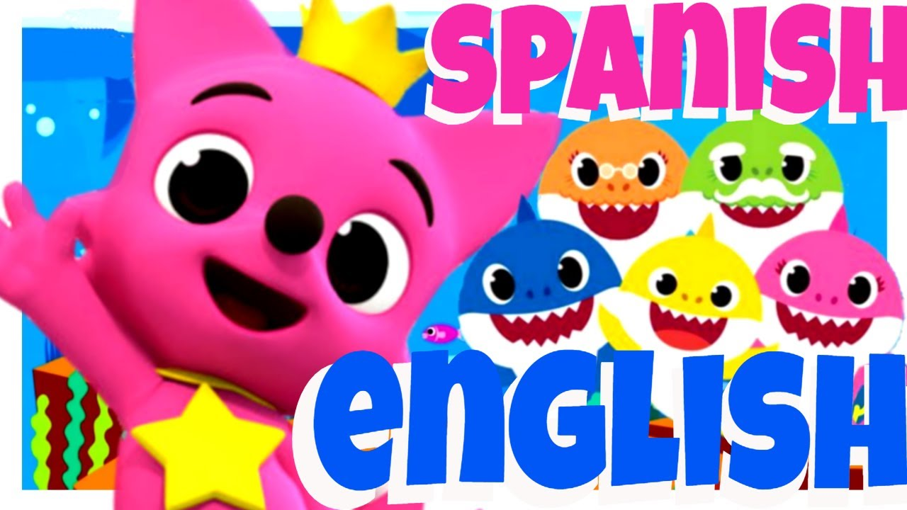 BABY SHARK Original Song in ENGLISH and SPANISH Versions Sing and Dance | TIBURON BEBE Cancion Baile