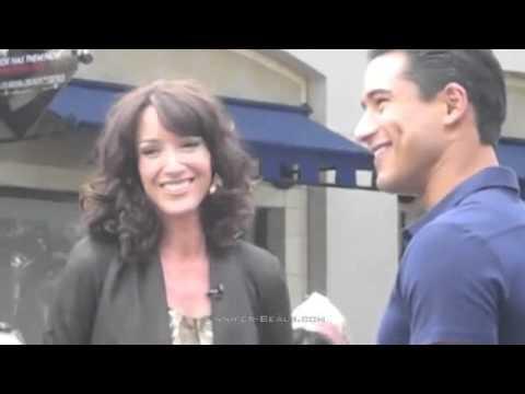 Jennifer Beals visits Extra at The Grove (April 2011)