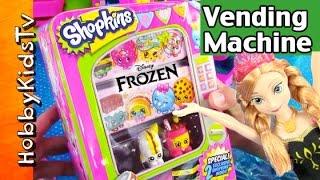 Shopkins Vending Machine! Anna Buys Storage Tin HobbyKid Fills with Shopkins by HobbyKidsTV