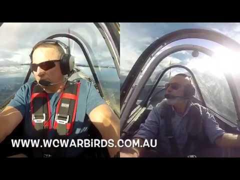 Dog Fighting with a Yak 52 Flight Over the Hunter Valley - Australia - www.wcwarbirds.com.au
