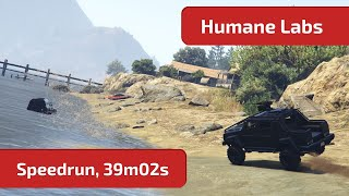 GTA Online - Humane Labs (Speedrun, 39m02s / 27m23s) World Record