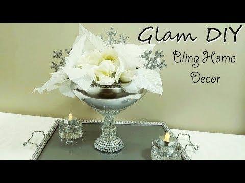 Dollar Tree DIY Glam Bling Christmas Centerpiece