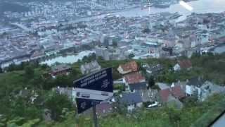 Fahrt mit der Fløibahn, Bergen / Norwegen, Fløibanen