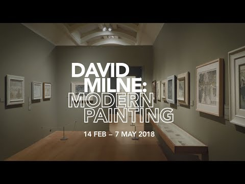 David Milne: Modern Painting - a one-minute walk-through with co-curator Ian Dejardin