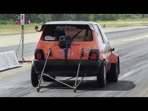 9-Seconds 600hp Fiat Uno Turbo 1/4 Mile Accelerations!!