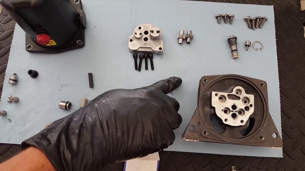 omc cobra volvo penta sx stern drive tilt trim leak down problem fixed [ 1280 x 720 Pixel ]