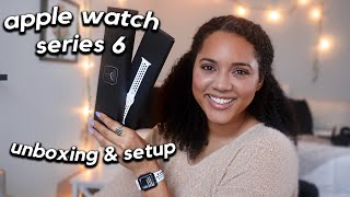 APPLE WATCH SERIES 6 unboxing + setup ✰ 40mm GPS space grey ⌚️