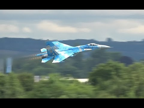 Royal International Air Tattoo Su-27 P1 - Filmed Exclusively For AIRSHOW WORLD By James Feneley