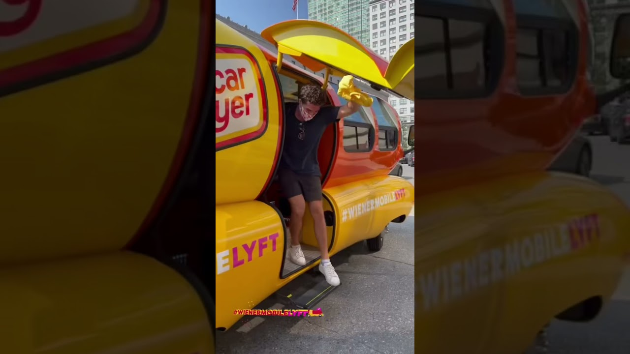 Behind the hot diggity dog masks are nothing but XL smiles in the WienermobileLyft