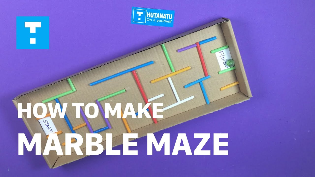Diy how to make toys for kids how to make a marble maze diy diy how to make toys for kids how to make a marble maze diy caft for children hutanatu youtube solutioingenieria Image collections