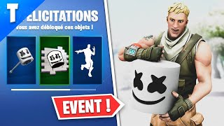 OUF EVENT (FREE SKIN, CHALLENGES, CONCERT..) WITH MARSHMELLO ON FORTNITE!