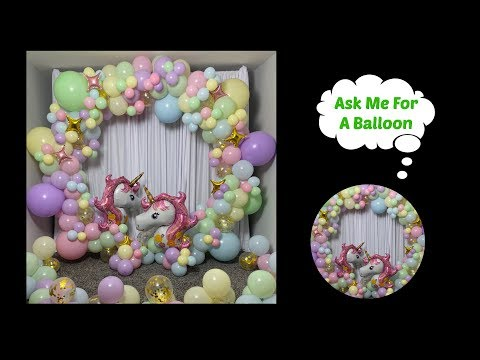 #howto Unicorn Balloon Garland Round Backdrop