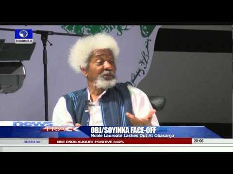 OBJ, Soyinka Face Off: Noble Laureate Calls Obasanjo A Liar -- 31/08/15