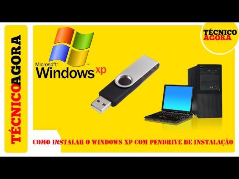 Como instalar o Windows XP com Pendrive de Instalação.