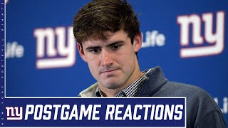 "Daniel Jones: ""It's disappointing, but we have to stay at it"" 