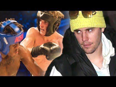 Justin Bieber Reacts To Logan Paul & KSI Rematch