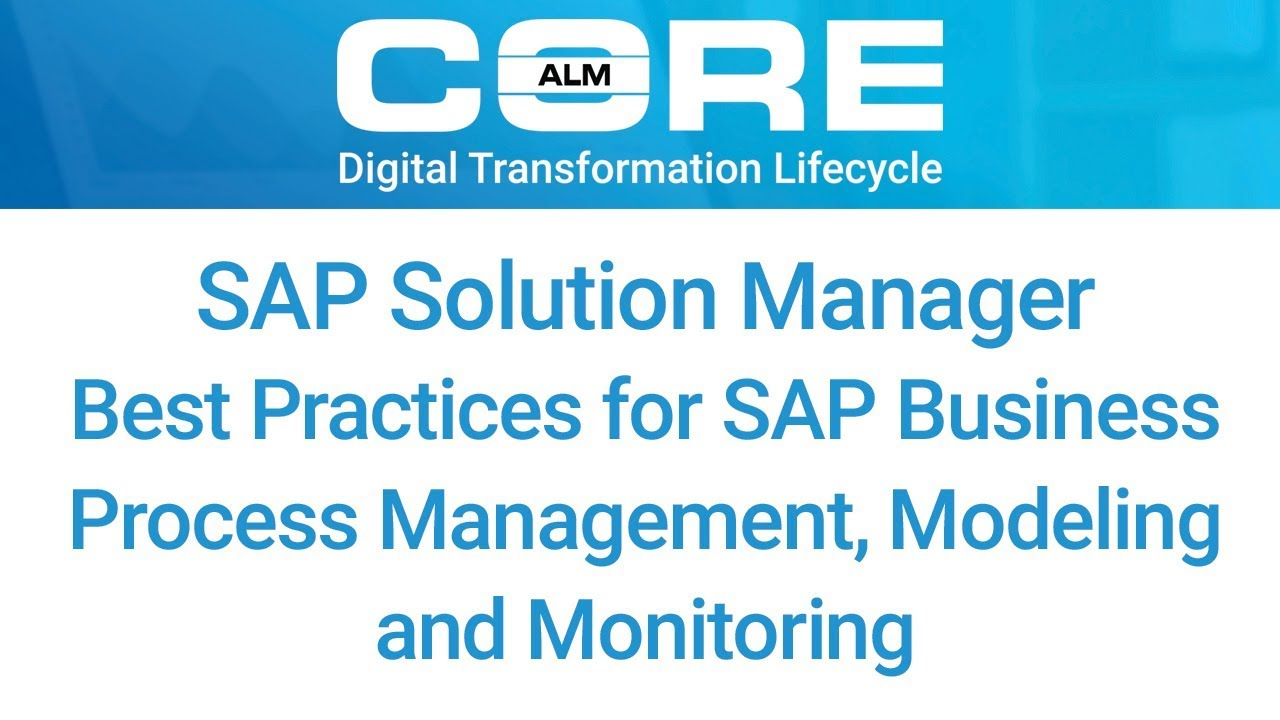 Best practices for sap business process management modeling and best practices for sap business process management modeling and monitoring malvernweather Choice Image