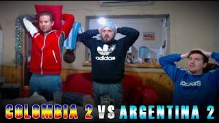 ⚽ REACCIÓN de *HINCHAS ARGENTINOS* | COLOMBIA 2 - ARGENTINA 2 | Eliminatorias