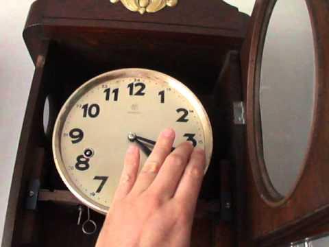 71dc13cdb76 Relógio de Parede Antigo Carrilhão Junghans - YouTube