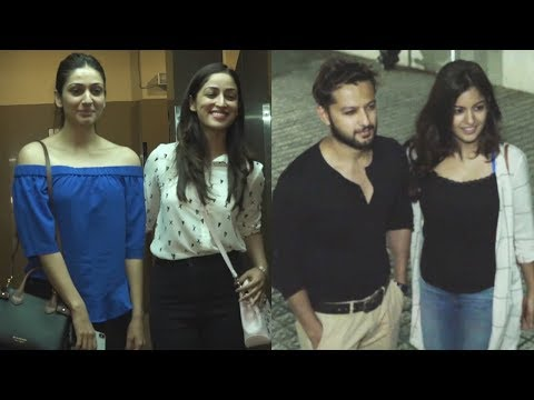 Haasil Hero Vatsal Sheth, Yami Gautam, Ishita Dutta Spotted At PVR | Bollywood Events