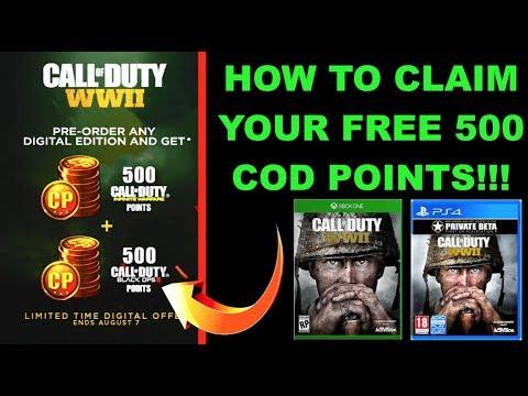 call of duty ww2 free cod points