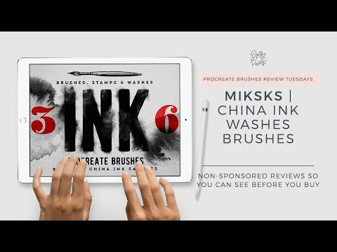 Procreate Brushes Review   China Ink by MiksKS   Watercolor Brushes for Procreate Holly Pixels