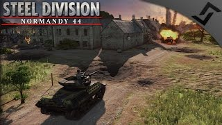 Normandy Breakout - Scots vs Waffen SS - Steel Division: Normandy 44 - 2v2 Multiplayer Gameplay