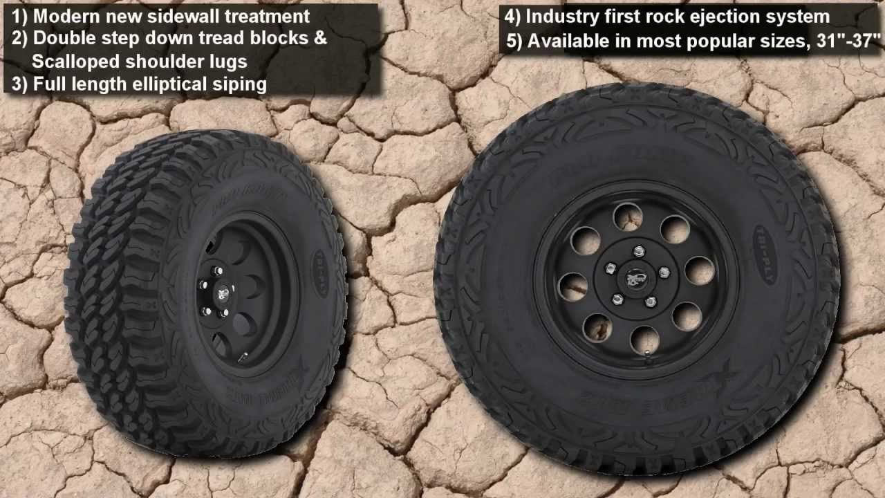 Pro comp xtreme mud terrain ii tire xtreme mt2 youtube sciox Image collections