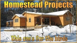Homestead Projects. Caring For The Flock. How To Build Nesting Boxes.