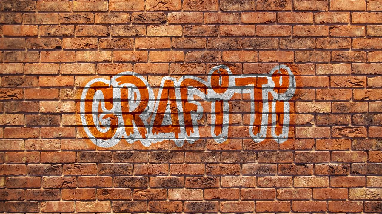 How to create a graffiti in gimp