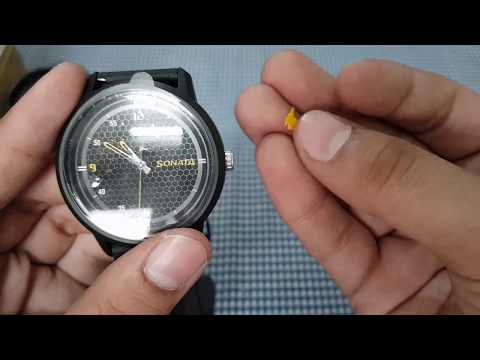 SONATA 77085PP03 Volt Analog Watch Unboxing And First Look