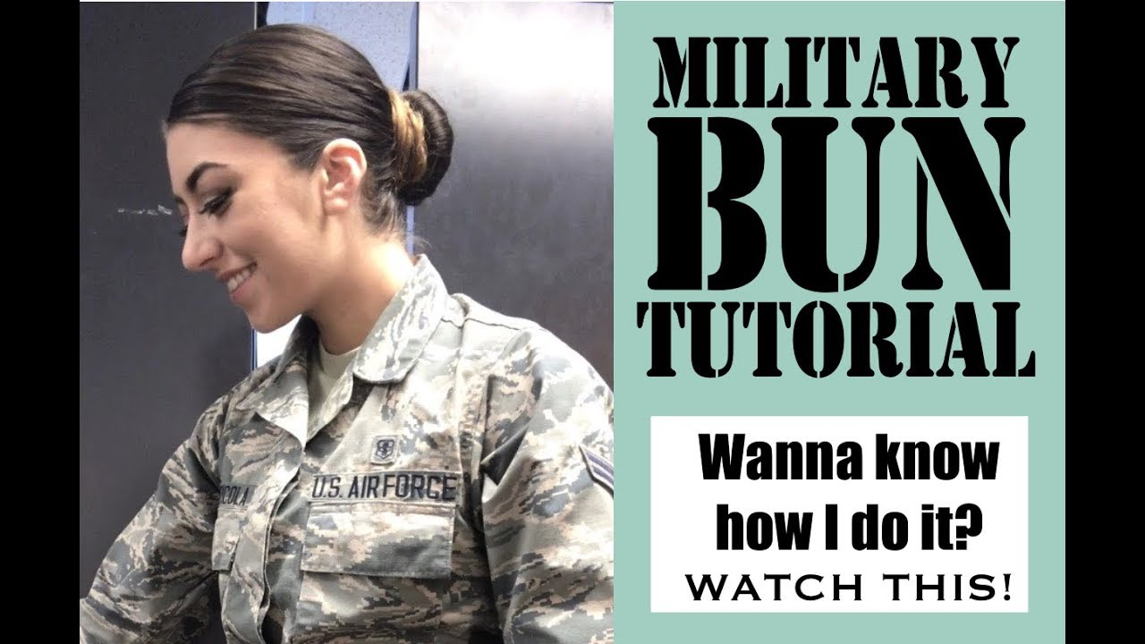 My Air Force Hair Military Bun Tutorial How To Get That