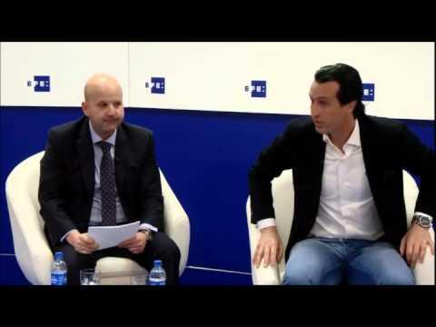 Charla Unai Emery, entrenador del Sevilla FC, en  EFE Fórum Deportes