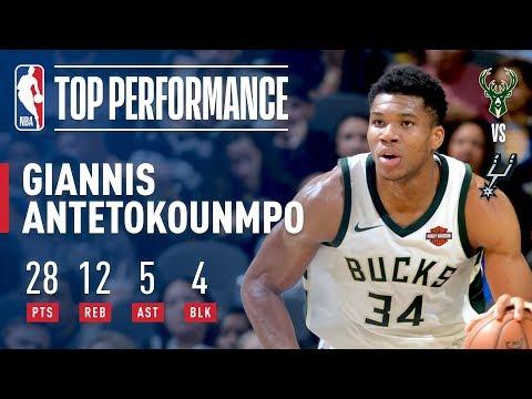 Giannis Antetokounmpo Rallies Bucks to Win Over Spurs   November 10, 2017